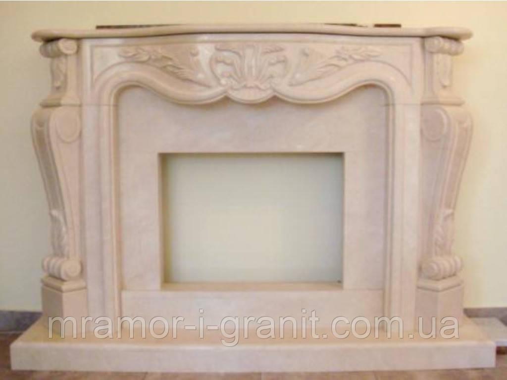 Мраморный камин Crema Marfil