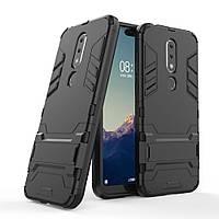 Чехол для Nokia 6.1 Plus / Nokia X6 / TA-1116 / TA-1099 5.8'' Hybrid Armored Case черный
