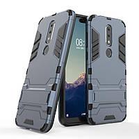 Чехол для Nokia 6.1 Plus / Nokia X6 / TA-1116 / TA-1099 5.8'' Hybrid Armored Case темно-синий