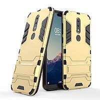 Чехол для Nokia 6.1 Plus / Nokia X6 / TA-1116 / TA-1099 5.8'' Hybrid Armored Case золотой
