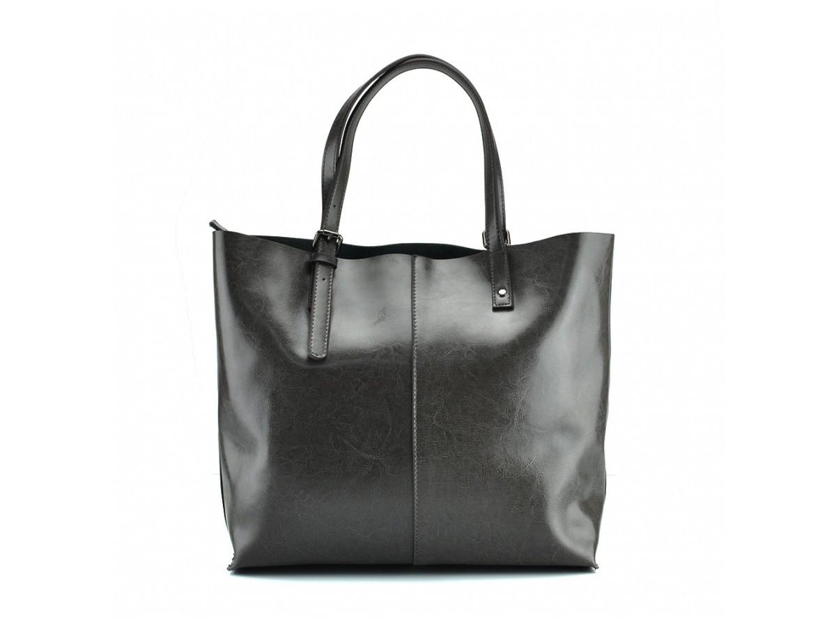 c1ae02a391a3 ... Большая модная женская серая сумка тоут шопер длинные ручки натуральная  кожа ручная работа, ...