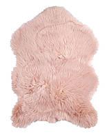 Коврик из искуственного меха 60x90см розовый