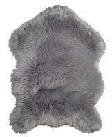 Коврик из искуственного меха 60x90см серый