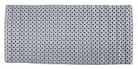 Протиковзкий гумовий килимок для ванни / душа 76х36 сірий
