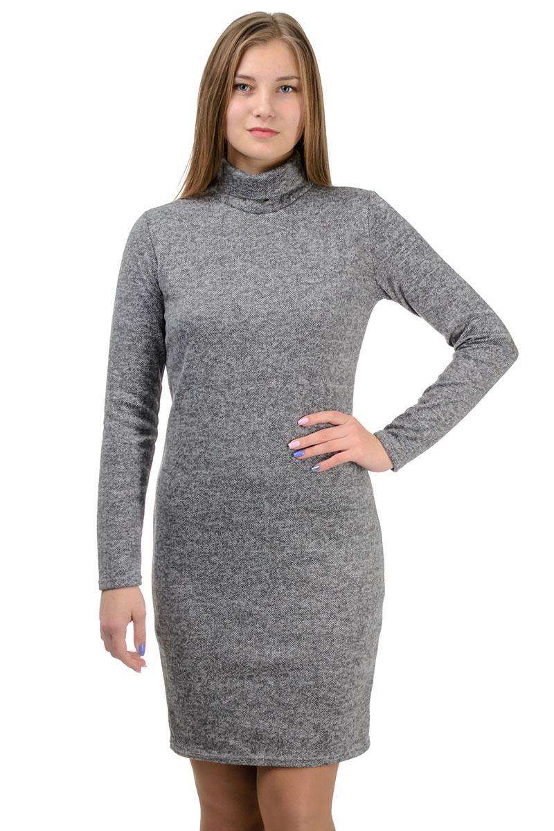 """Платье-гольф """"Monika"""", серый, размеры S-XXL"""