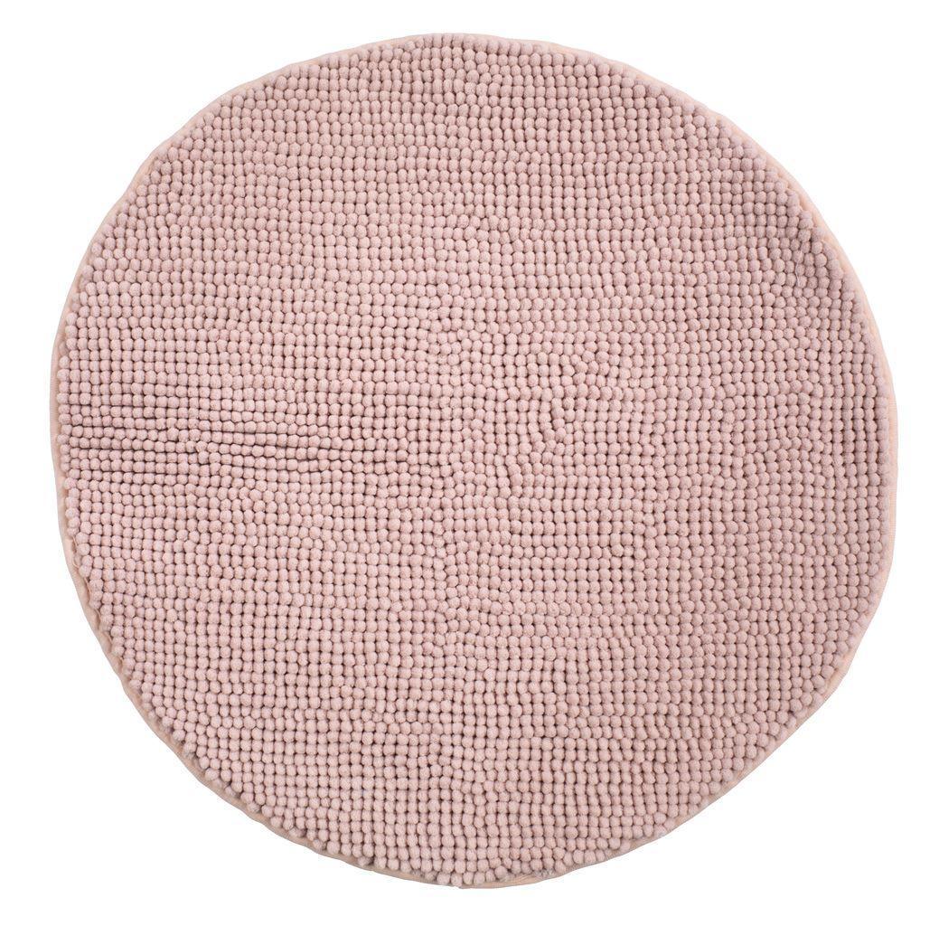 Коврик для ванной круглый 60см розовый