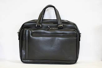 Мужская сумка тоут черного цвета B1166