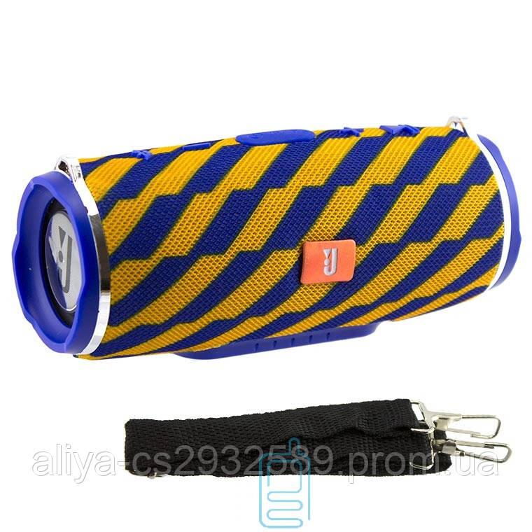 Портативная колонка JBL Charge 3+ mini copy с ремнем желто - синяя