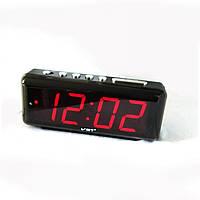 Часы настольные VST-762 красный