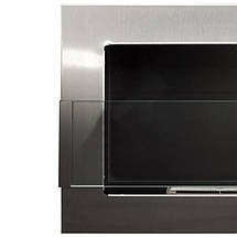 Биокамин ARCHIKART 1200 x 400, с стеклом,металлик, фото 2