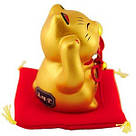 Золотистый манеки-неко «Жёлтый шар», фото 2