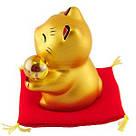 Золотистый манеки-неко «Жёлтый шар», фото 3
