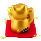 Золотистый манеки-неко «Жёлтый шар», фото 4