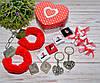 Романтический набор с наручниками в сердечке