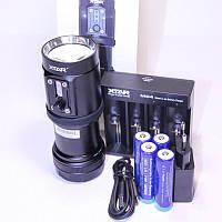 Xtar D08 Подводный фонарь для дайвинга и фото видеосъемки, угол 120°, нейтрально-тёплый свет 2000lm IPX-68