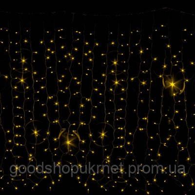 Гирлянда Curtain DELUX 2x3м (Штора) 1520LED желтая