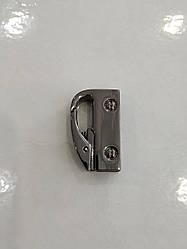 Карабин боковой блэк никель 34х21х8 мм.