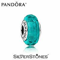 Pandora шарм Мурано бирюзовый 791655 серебро 925 Пандора оригинал
