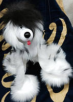 Велика собака маріонетка пухнаста долматин, хаскі, рожева, біла, антрацит.