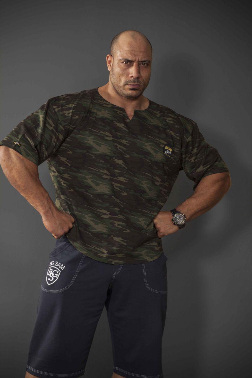 Топ-футболка для бодибилдинга Big Sam 3153