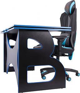 Геймерский набор мебели Barsky Blue/Black HG-04/BG-01