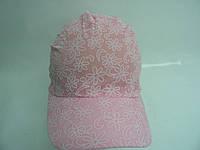 Косынка  детская розовая с козырьком, фото 1