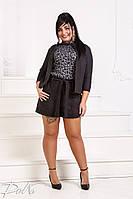Стильный костюм шорты+пиджак для дам большого размера