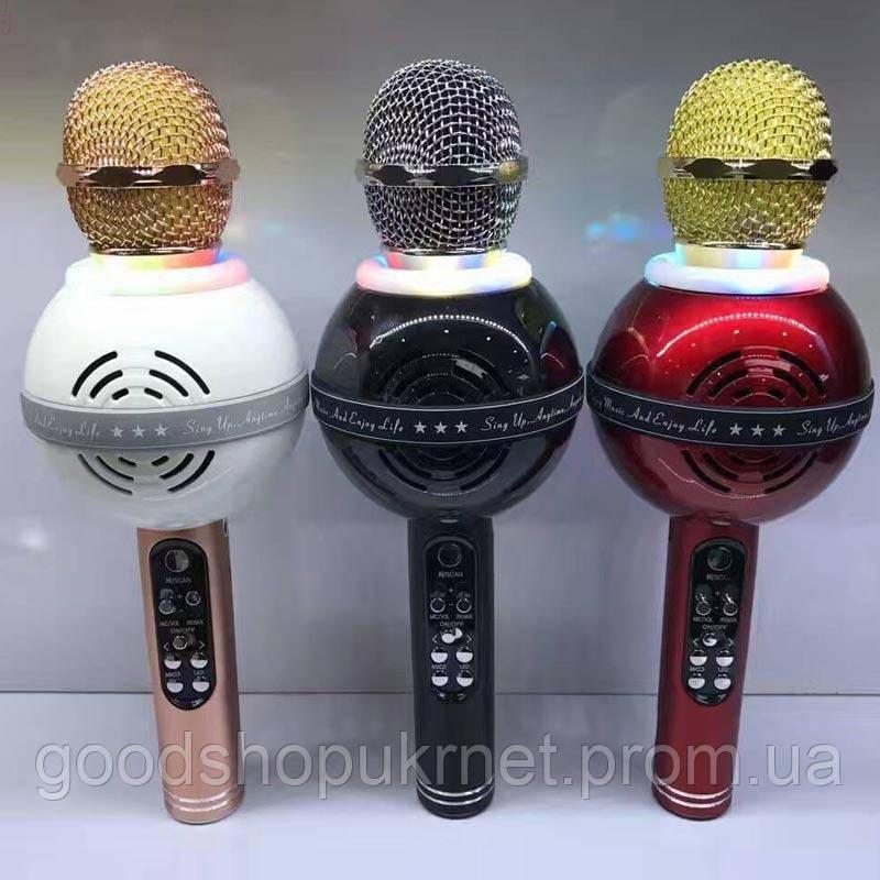 Bluetooth микрофон-караоке со встроенными динамиками WS-878