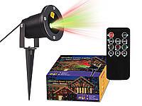 Праздничный ,точечный лазерный проектор,металлический корпус+ пульт(авто выкл. в светлое время суток)
