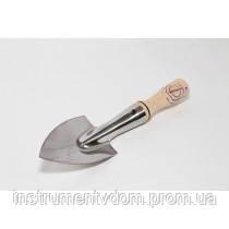 Лопатка садовая с короткой ручкой (нержавейка)