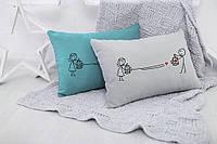 Подушка для влюбленных «Сердце в ловушке»  флок, фото 1