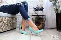 """Туфли-лодочки """"Симона """" Голубые."""