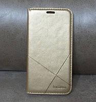 Чехол-книжка для смартфона Samsung J3 2016 J320 золотая