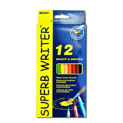 Акварельные карандаши 12 шт. MARCO Superb writer 4120-12, фото 2