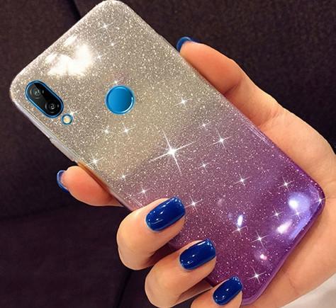 Силиконовый чехол 2 в 1 градиент блеск для Huawei Honor 8X