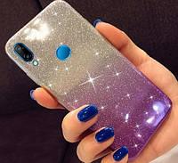 Силиконовый чехол 2 в 1 градиент блеск для Huawei Honor 8X, фото 1