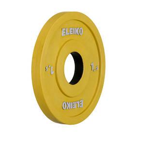 Олимпийский диск Eleiko для соревнований и тренировок 1,5 кг цветной