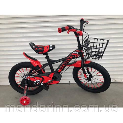 """Велосипед TopRider 605 16"""" красный детский двухколесный"""