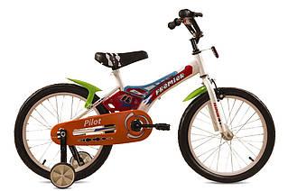 Велосипед детский двухколесный с дополнительными колесиками Premier Pilot