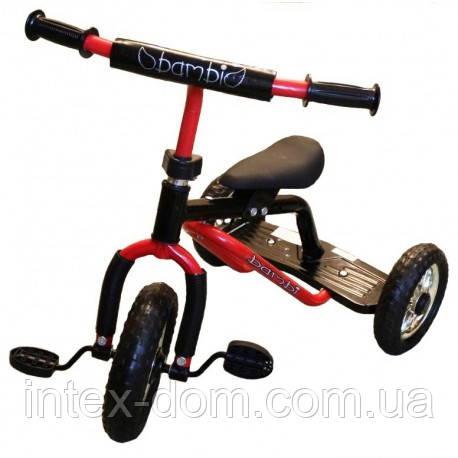 Трехколесный велосипед Profi Trike M 0688-2R Красно-черный