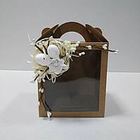 Коробка для кулича, подарков и пряничных домов с декором (115*120*140 мм), фото 1