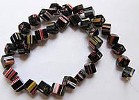Бусины Миллефиори Куб (диагональ) 8*8 мм (32 шт)