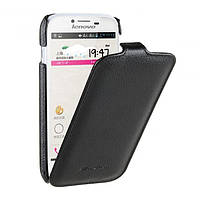 Чехол-книжка для телефона Lenovo A706 (Jacka leather case black Melkco)