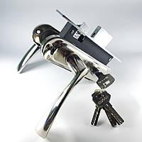 Комплект замка для входной и межкомнатной двери (ручки Corona SN (матовый никель))