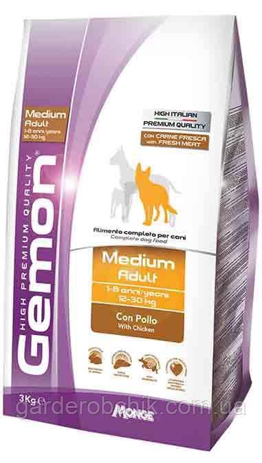 Корм для  собак GEMON Medium Adult with chicken, Гемон с курицей для взрослых собак средних пород