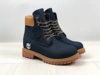 4e4ce6c1fd56 Ботинки зимние мужские в стиле Timberland код товара 4S-1164. Темно-синие