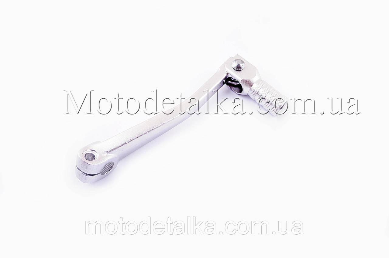 Ножка переключения передач 4T CB/CG 125-250 (стайлинговая) (серебристая)
