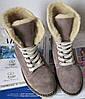Зимние замшевые стильные женские сапоги ботинки Timberland