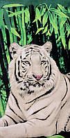 Пляжное полотенце Белый тигр