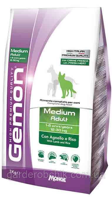 Корм для собак GEMON Medium Adult with Lamb and Ric,Гемон с ягненком и рисом для взрослых собак средних пород